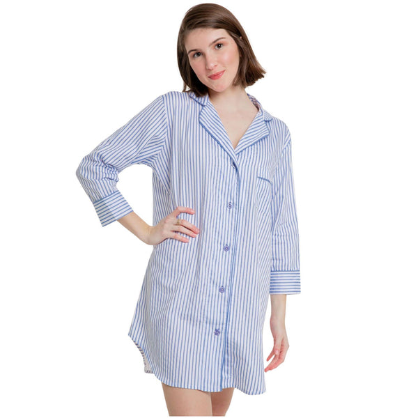 Striped Nightshirt - Monogram or personalize - blue