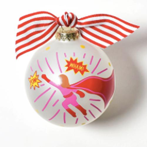 Superhero Girl Ornament - Personalized