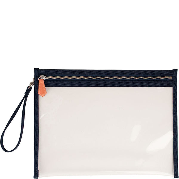 Terra Large Clear Pouch - Navy