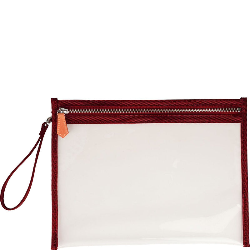 Terra Large Clear Pouch - Red