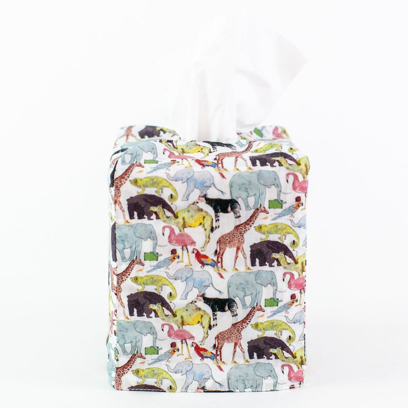 Liberty Tissue Box Cover - Queue for The Zoo