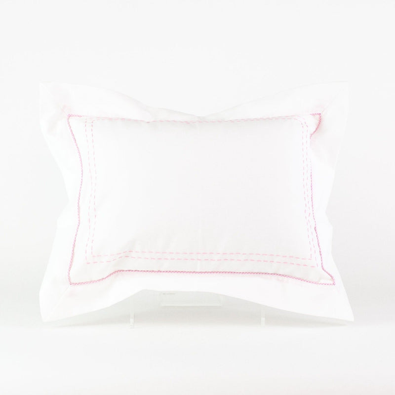 Stitched Boudoir Pillow - Monogrammed or Personalized - Pink
