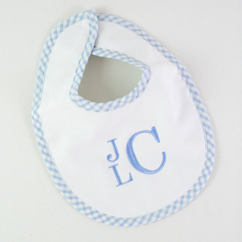 Pique Bib - Light Blue - Monogrammed or Personalized