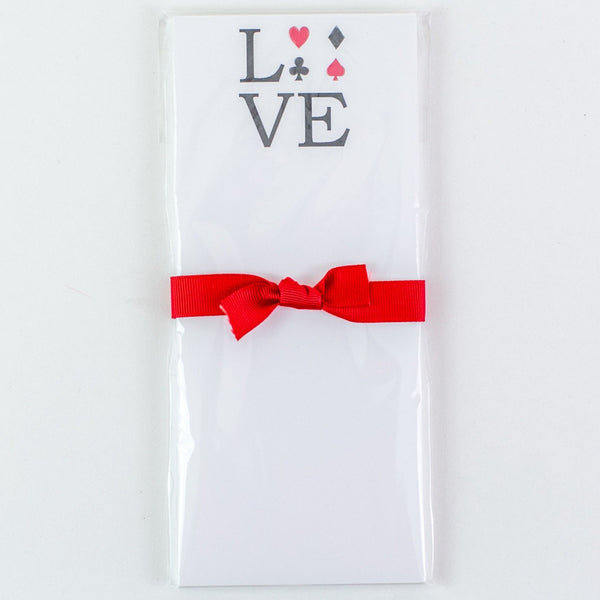 LOVE Cards Skinny Notepad