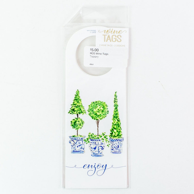 Topiary Wine Tags