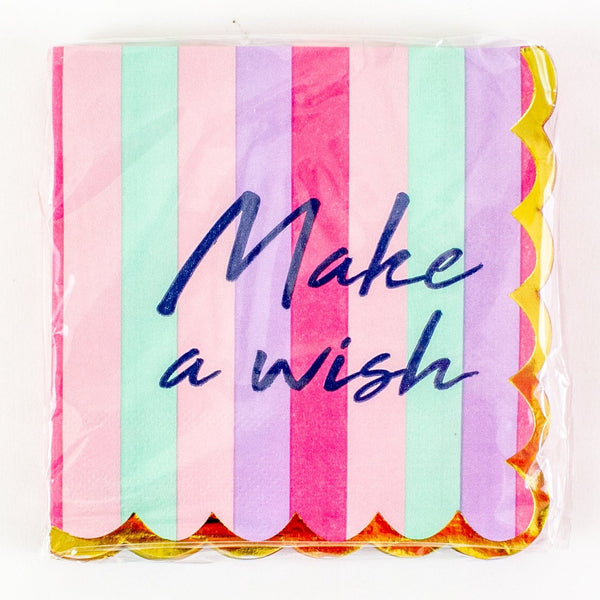Make A Wish Paper Cocktail Napkins