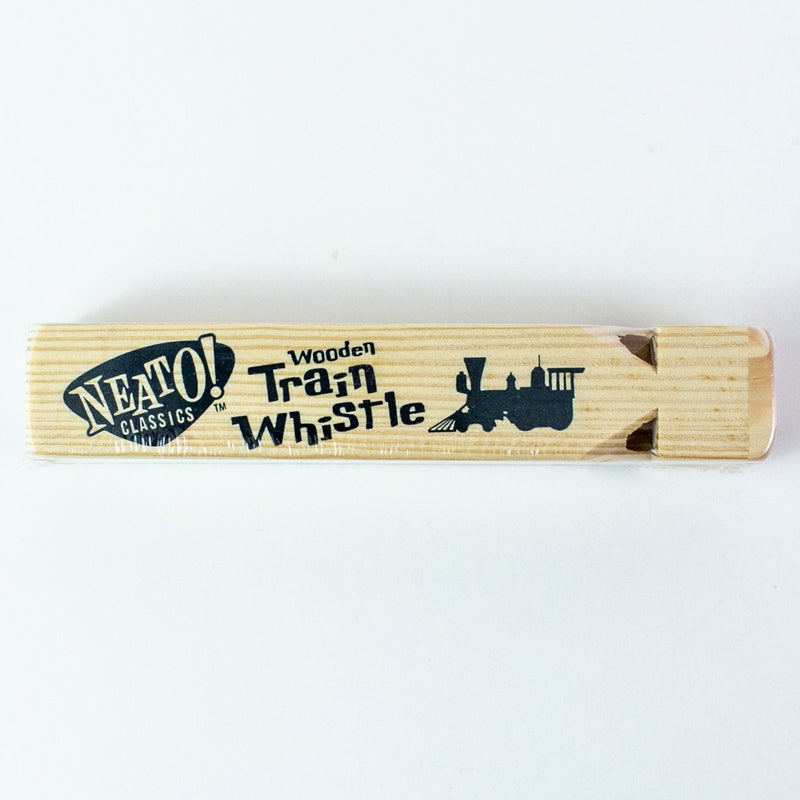 Neato Wooden Train Whistle Toy