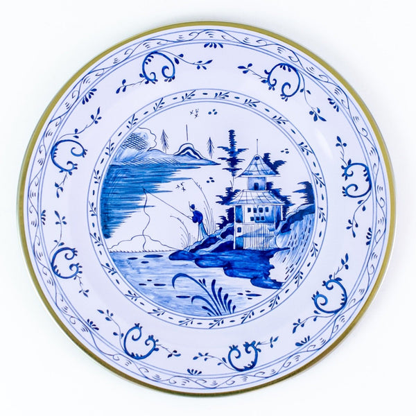 Tin Picnic Plate Set - Blue Pagoda