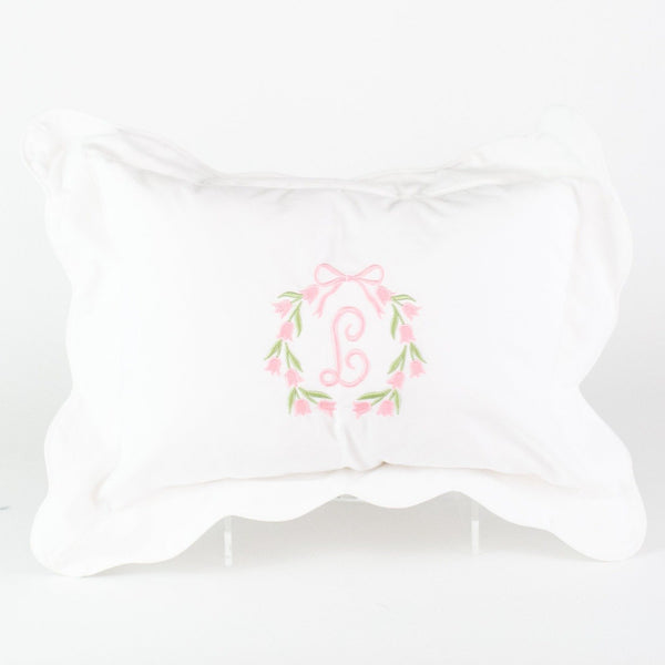 Scalloped Boudoir Pillow - Monogrammed