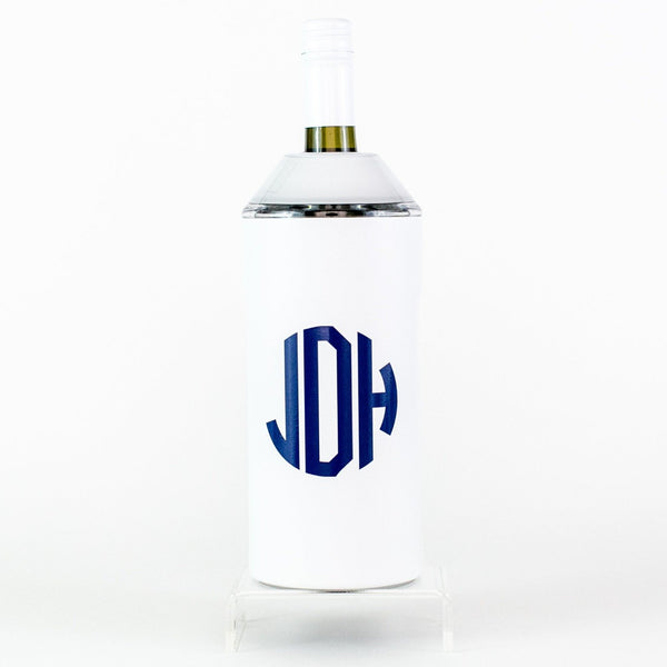 Vinglace Wine Chiller - White - Monogrammed