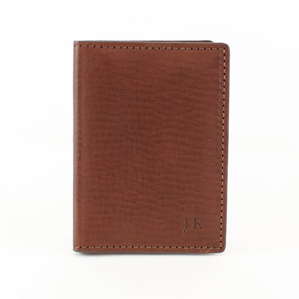 Vachetta Leather Card Case ID Holder - Brown
