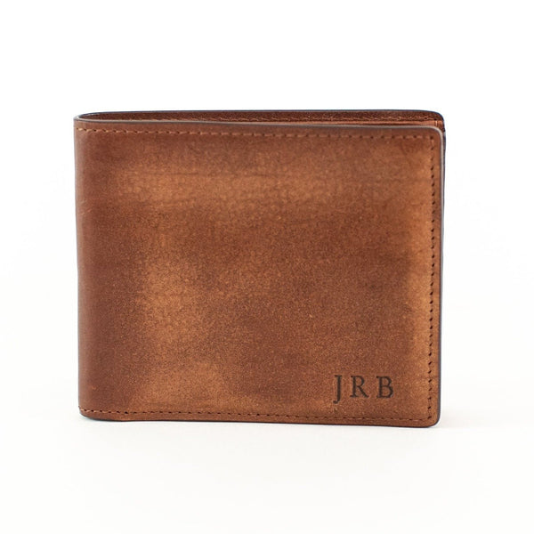 Vachetta Leather Bi-Fold Wallet - Brown - with Monogram