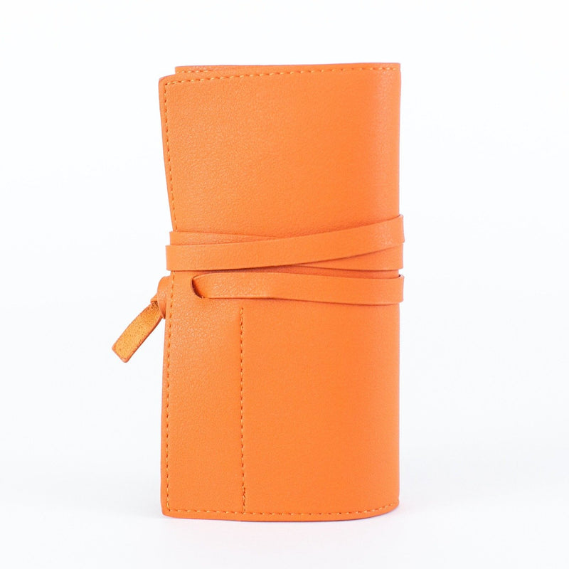 Vegan Leather Power Bank Roll - Personalized - Orange