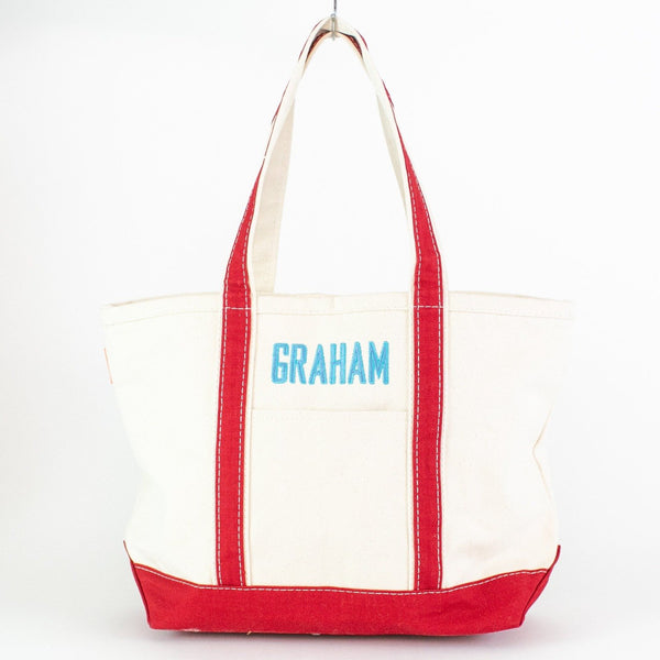 Medium Boat Tote - Red