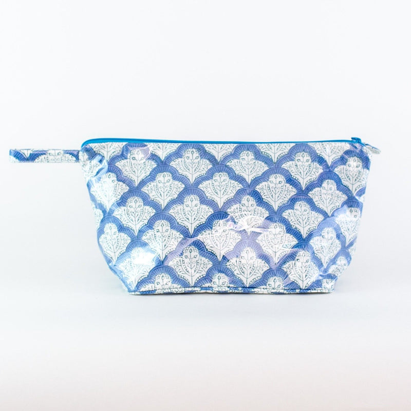 Roller Rabbit Blue Jemina Coated Makeup and Toiletry Case - Add a monogram - large