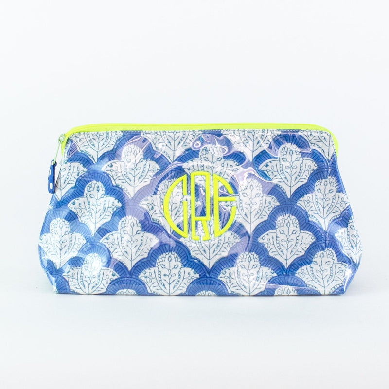 Roller Rabbit Blue Jemina Coated Makeup and Toiletry Case - Add a monogram - medium
