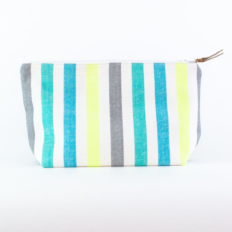 Striped Travel Bag - Monogrammed - El Bruno (blues and yellow)