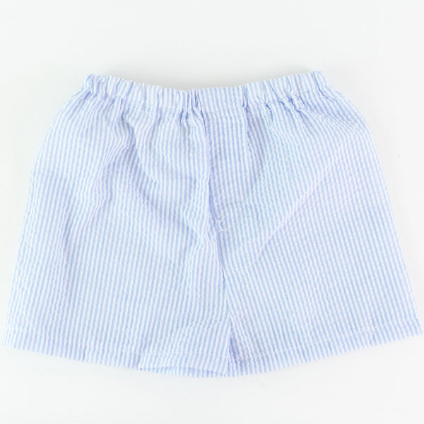 Seersucker Shorts - Baby Blue - Personalize