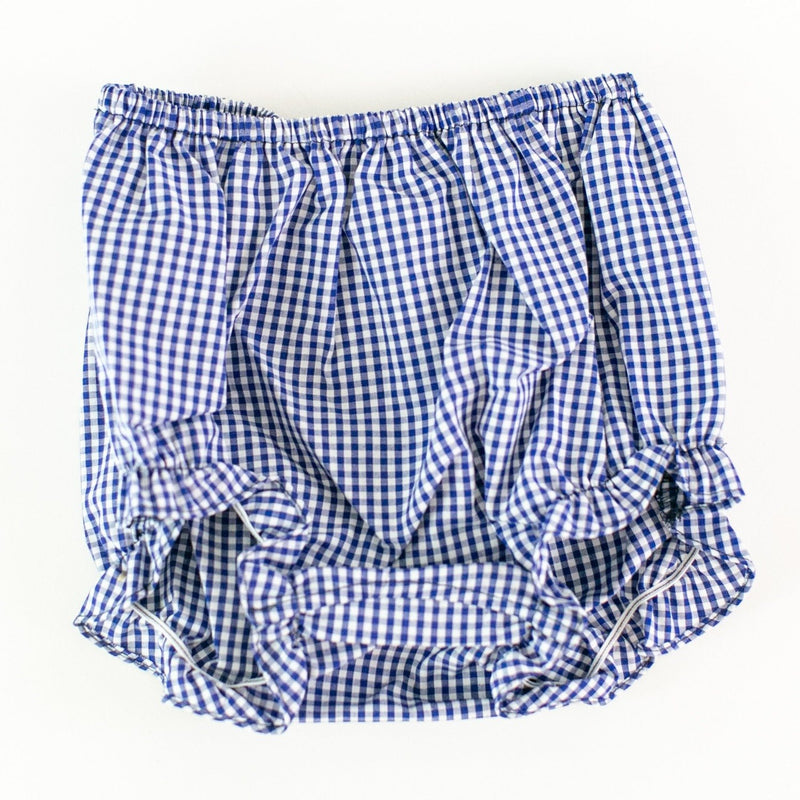 Gingham Bloomers - Navy Gingham