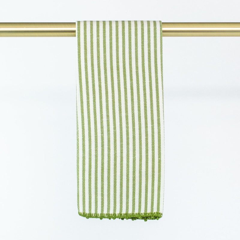 Busatti Stripe Hand Towel - Personalize or Monogram - Green