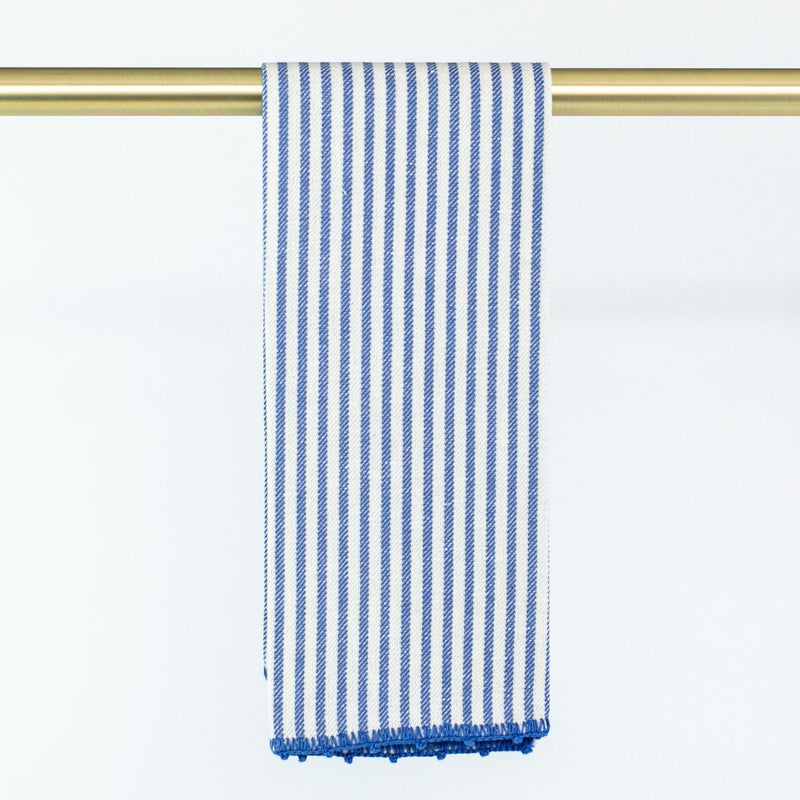 Busatti Stripe Hand Towel - Personalize or Monogram - Blue