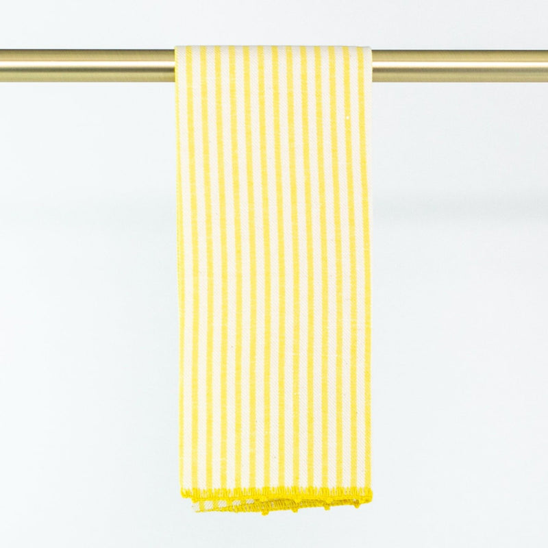 Busatti Stripe Hand Towel - Personalize or Monogram - Yellow