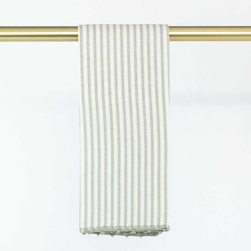 Busatti Stripe Hand Towel - Personalize or Monogram - Gray