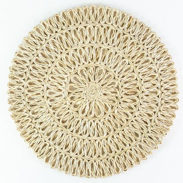 Round Loop Placemat - Natural