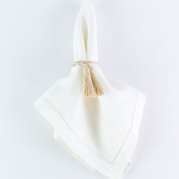 Tassel Napkin Rings Natural