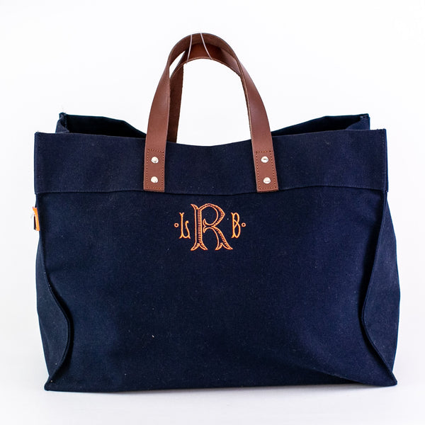 Town & Country Tote - Navy - Monogrammed
