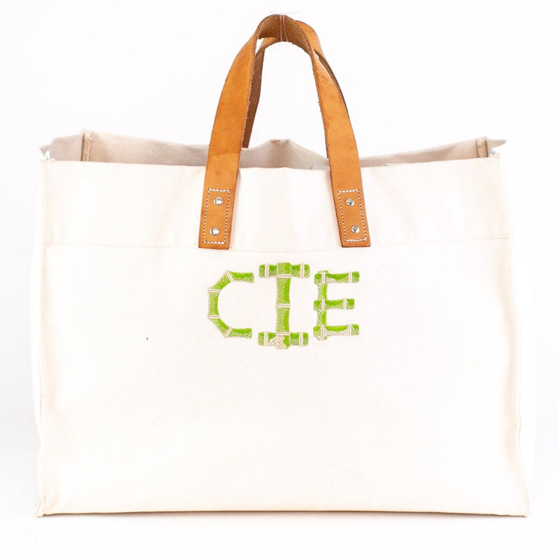 Town & Country Tote - Natural - Monogrammed