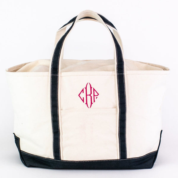 Large Boat Tote - Navy - Personalized or Monogrammed