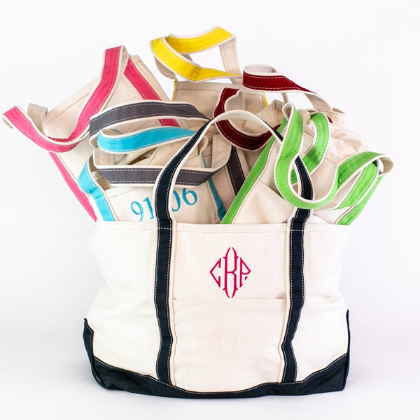 Large Boat Tote - Assorted Colors - Personalized or Monogrammed