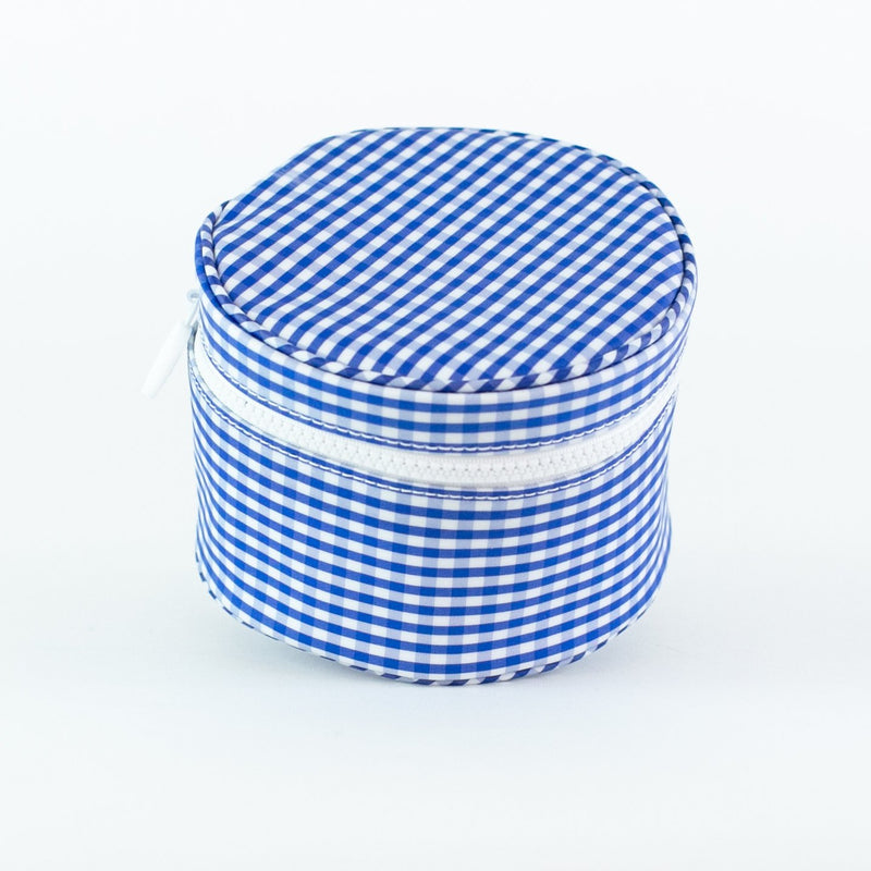 Monogrammed Gingham Jewelry Cases - Royal