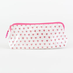 Pink Hearts Coated Makeup and Toiletry Case - Monogram or Personalize - Small