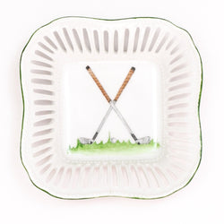 Hand Painted Porcelain Golf Catchall