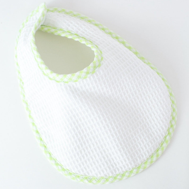 Pique Bib - Lime - Monogrammed or Personalized