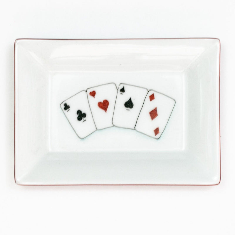 4 Aces Rectangular Dish
