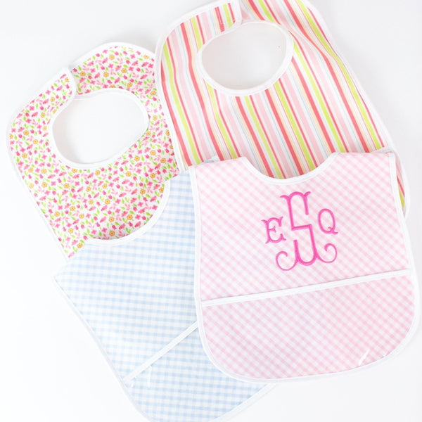 Laminated Bib - Assorted Colors - Personalized or Monogrammed