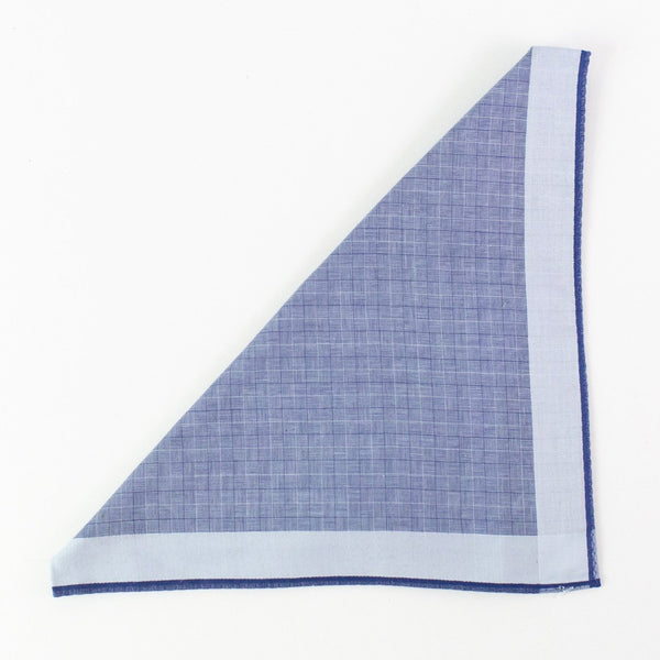 Men's Cotton Handkerchief - Monogram - Royal