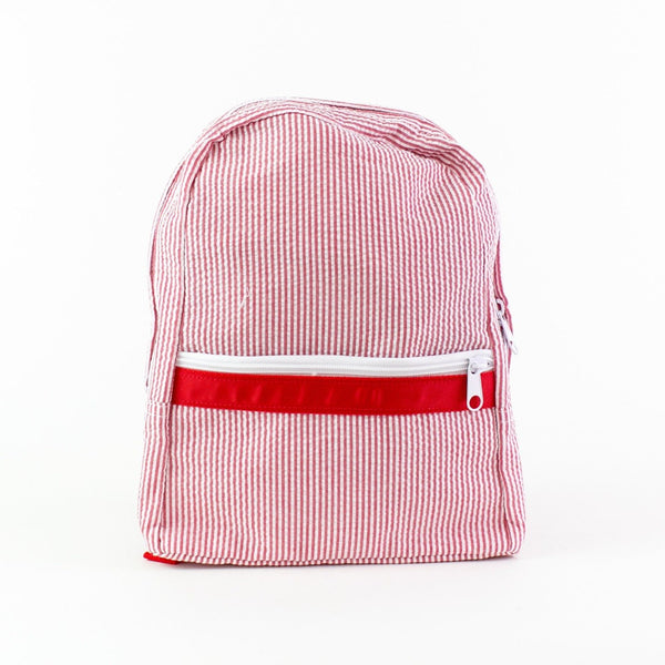 Small Lightweight Backpack for Children - Red - Add Name or Monogram