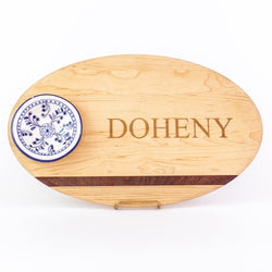 Oval Dip Board - Maple wooden - personalized