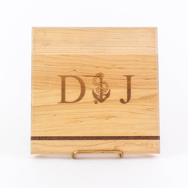 Monogrammed Wooden Bar Block - 9 inch