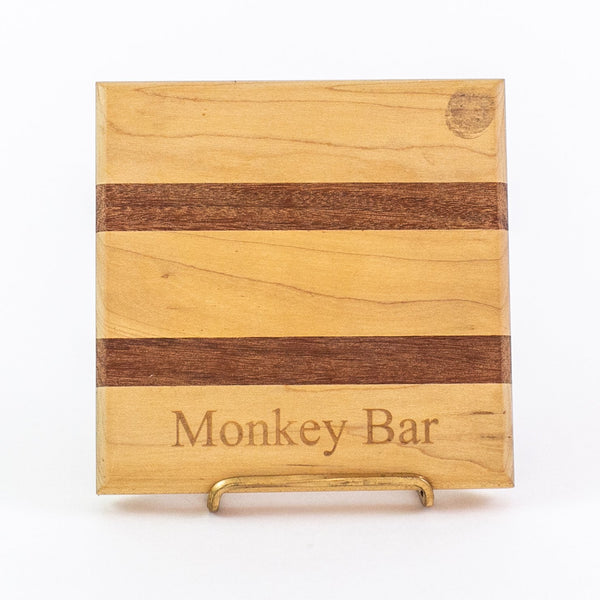 Monogrammed Wooden Bar Block - 6.5 inch
