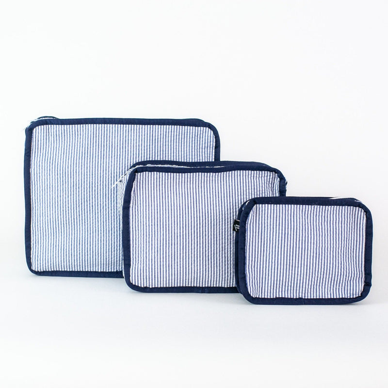 3-piece Stacking Set, Seersucker, Monogrammable, Navy