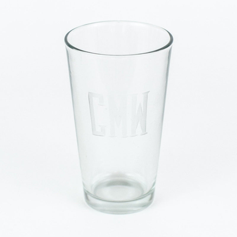 Monogrammed beer pint glass