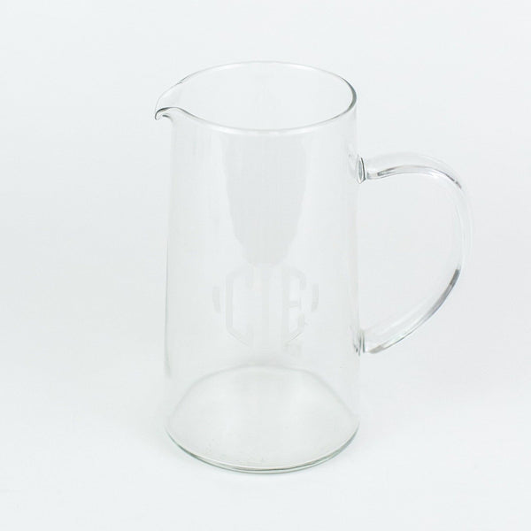 Glass Monogrammed Pitcher