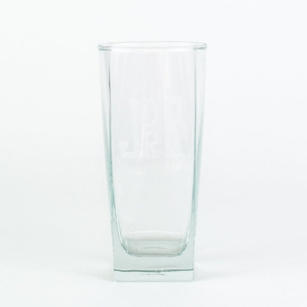 Monogrammed Square Beverage Glasses