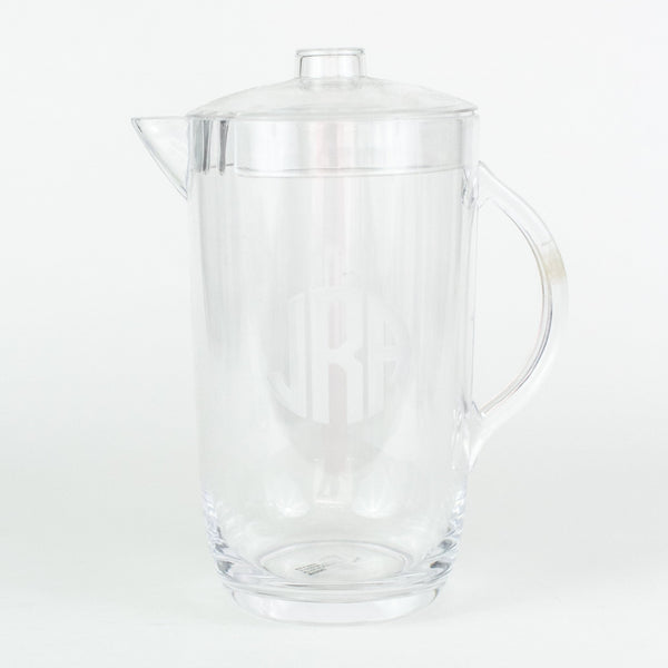 Etched 2 Qt. Acrylic Pitcher