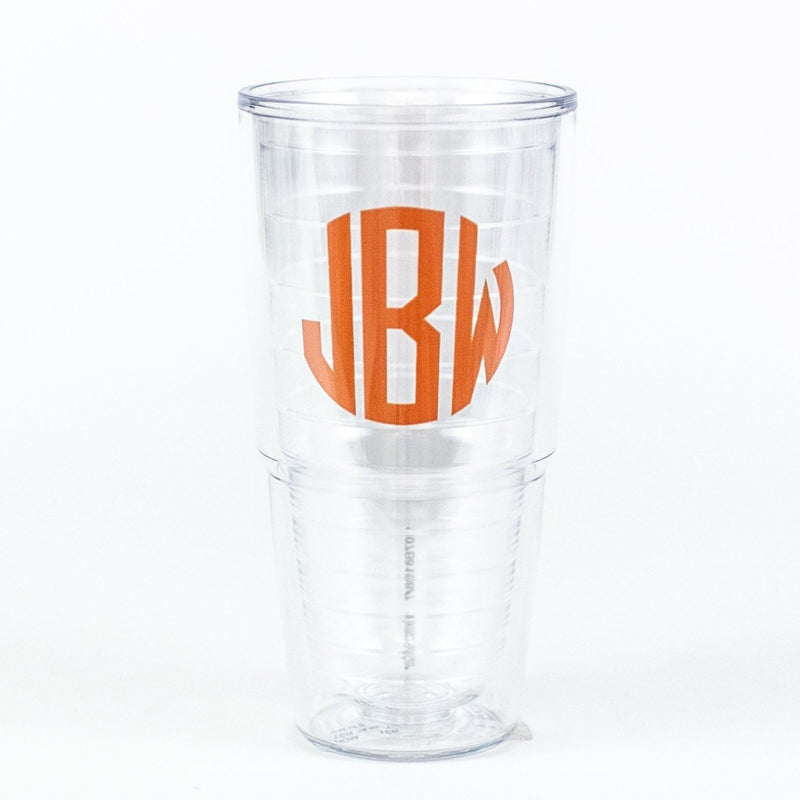 Monogrammed Tervis Tumbler, 24 oz. orange